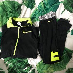Nike Just Do It Half Zip Up and Leggings